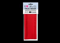 Хоризонтална червена маска